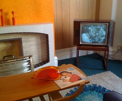 1960s TV Set With VT Playback In Turn Back Time BBC